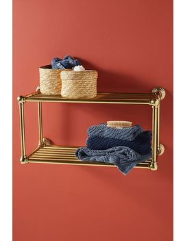 Fluted Two Tier Bathroom Shelf by Anthropologie