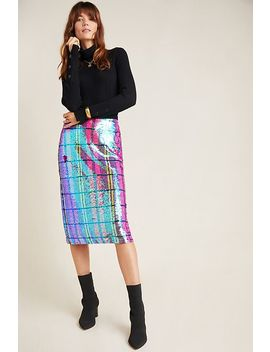 Eva Franco Dione Sequined Pencil Skirt by Eva Franco