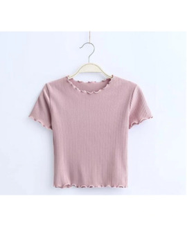 Vintage Wood Ears O Neck Short Sleeve T Shirt 2017 New Woman Slim Fit T Shirt Tight Tee Summer Retro Tops 6 Colors by Ali Express.Com