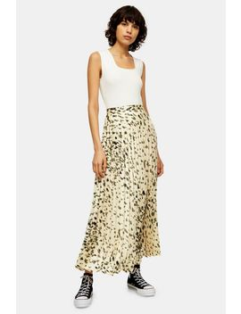 **Printed Pleated Maxi Skirt By Topshop Boutique by Topshop