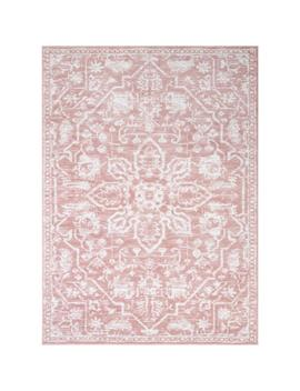 Dazzle Disa Blush Vintage Distressed Medallion Oriental 7 Ft. 3 In. X 9 In. 3 In. Area Rug by Well Woven