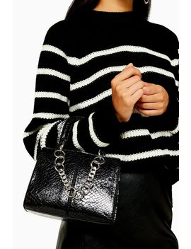 Case Black Crocodile Mini Cross Body Bag by Topshop