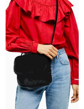 Frida Black Faux Fur Cross Body Bag by Topshop