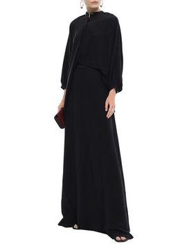 Layered Silk Crepe De Chine Maxi Dress by Chalayan