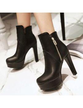 Aegina   High Heel Platform Ankle Boots by Aegina
