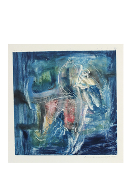 """Gestural Abstract In Blue"" By Anna Poole by Serena And Lily"