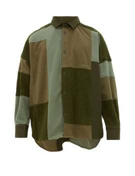 Oversized Patchwork Fleece Overshirt by Ambush
