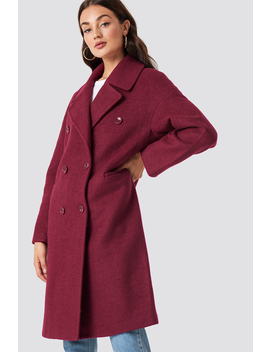 Oversized Double Breasted Coat Purple by Na Kd