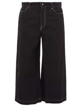 Cropped Wide Leg Wool Blend Trousers by Sasquatchfabrix