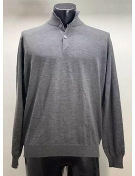 New With Tags Ermenegildo Zegna Cashmere Wool Gray Sweater Men's 42 by Ermenegildo Zegna