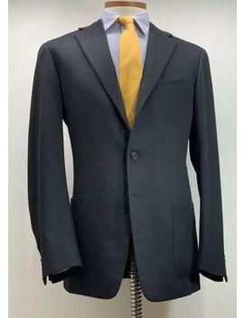 Recent Ermenegildo Zegna Su Misura 100% Cashmere Black Sport Coat 42 R Vented by Ermenegildo Zegna