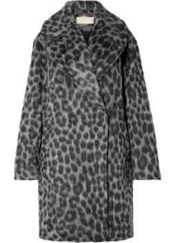 Oversized Leopard Print Faux Fur Coat by Michael Michael Kors