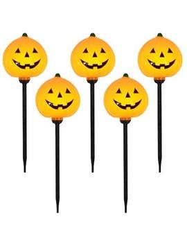 5ct Pumpkin Halloween Path Lights   Hyde & Eek! Boutique by Hyde & Eek! Boutique