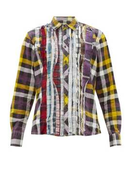 Rebuild Patchwork Check Cotton Flannel Shirt by Needles