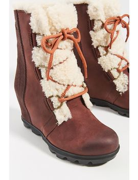 Sorel Shearling Waterproof Wedge Boots by Sorel