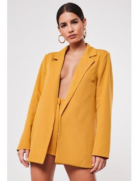 Mustard Co Ord Boyfriend Blazer by Missguided