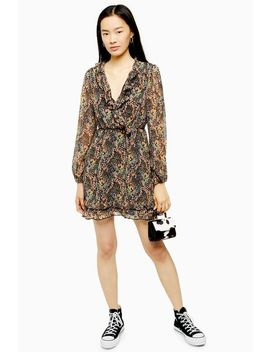 Ruffle Forest Print Mini Dress by Topshop