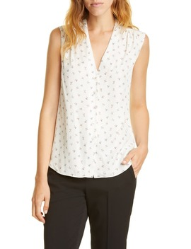 Clover Silk Blend Blouse by Tailored By Rebecca Taylor