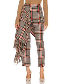 Apron Plaid Pant by Monse