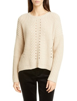 Pointelle Stitch Recycled Cashmere & Wool Sweater by Eileen Fisher