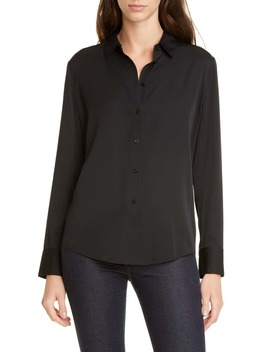 Stretch Silk Button Up Shirt by Nordstrom Signature
