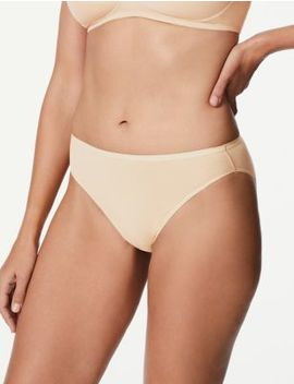 5 Pack No Vpl Cotton Modal High Leg Knickers by Marks & Spencer