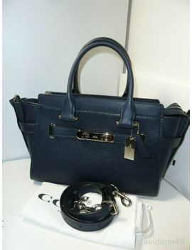 Nwt Coach F87295 Swagger 27 Pebble Leather Carryall Satchel  Navy by Ebay Seller