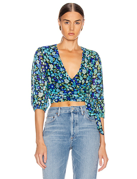 Printed Mesh Top by Ganni
