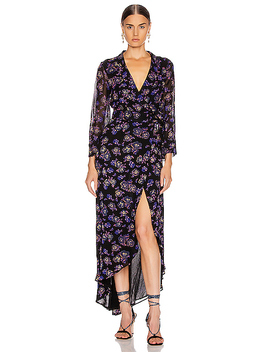 Printed Georgette Midi Dress by Ganni