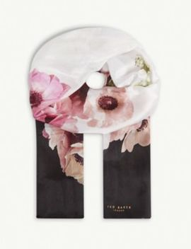 Nevaehh Floral Print Silk Scarf by Ted Baker