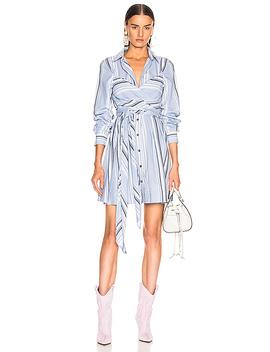 Light Cotton Stripe Dress by Ganni