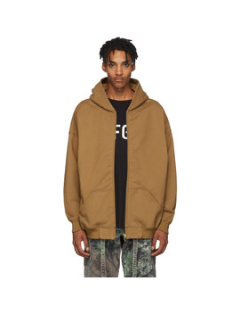Brown Everyday Full Zip Hoodie by Fear Of God