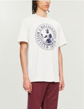 Poseidon Flocked Cotton Jersey T Shirt by Billionaire Boys Club