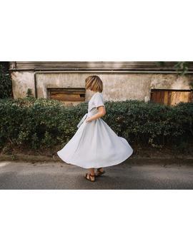 Linen Dress   Grey Dress   Long Dress   Linen Clothing   Romantic Dress   Wrap Dress   Wide Skirt Dress   Summer Dress   Women Dress by Etsy
