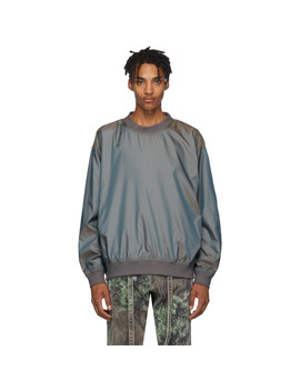 Grey Nylon Iridescent Sweatshirt by Fear Of God
