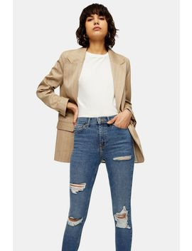 Mid Blue Super Rip Jamie Jeans by Topshop