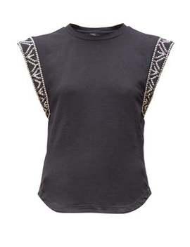 Yelani Studded Sleeveless Cotton T Shirt by Isabel Marant