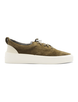Ssense Exclusive Khaki Suede 101 Lace Up Sneakers by Fear Of God