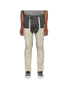 Green & Off White Double Front Trousers by Fear Of God