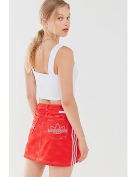 Adidas Originals X Fiorucci Cherub Zip Front Mini Skirt by Adidas