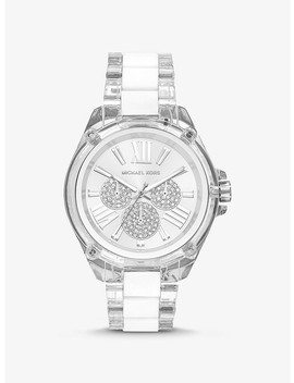 Wren Acetate And Silver Tone Watch by Michael Kors