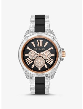 Wren Acetate And Rose Gold Tone Watch by Michael Kors
