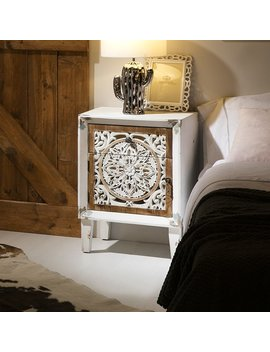 Aguilar 1 Drawer Bedside Table by World Menagerie