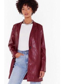 Faux Leather Blazer by Nasty Gal
