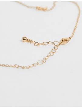 Asos Design – Goldfarbene Halskette Mit Mondanhängern by Asos