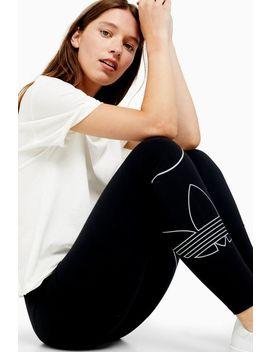 Black Trefoil Leggings By Adidas by Topshop