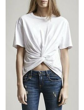 R13 Denim White Top Twisted Front Tee Row Ham T Shirt Basic Cotton Pullover Nwt by R13