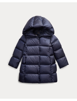 Quilted Down Long Coat by Ralph Lauren