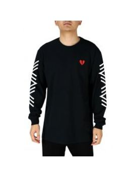 Riot Society Geo Broken Heart Mens Embroidered Long Sleeve T Shirt by Riot Society