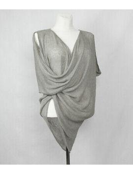Ports 1961 Damen 100% Leinen Pullover Cape Oversize Strick Wrap Gr. 36 38 40 Neu by Ebay Seller